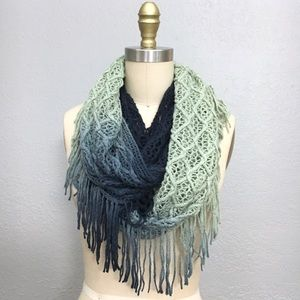 UO staring at stars crochet ombré circle scarf